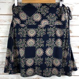 Patagonia Lithia Kerchief Blue A-Line Skirt